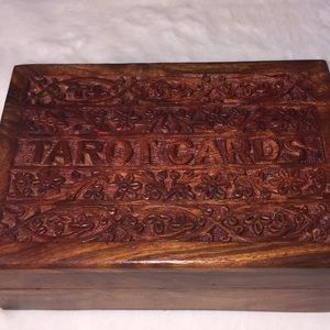 Other - Wood and brass engraved floral box. NWOT.